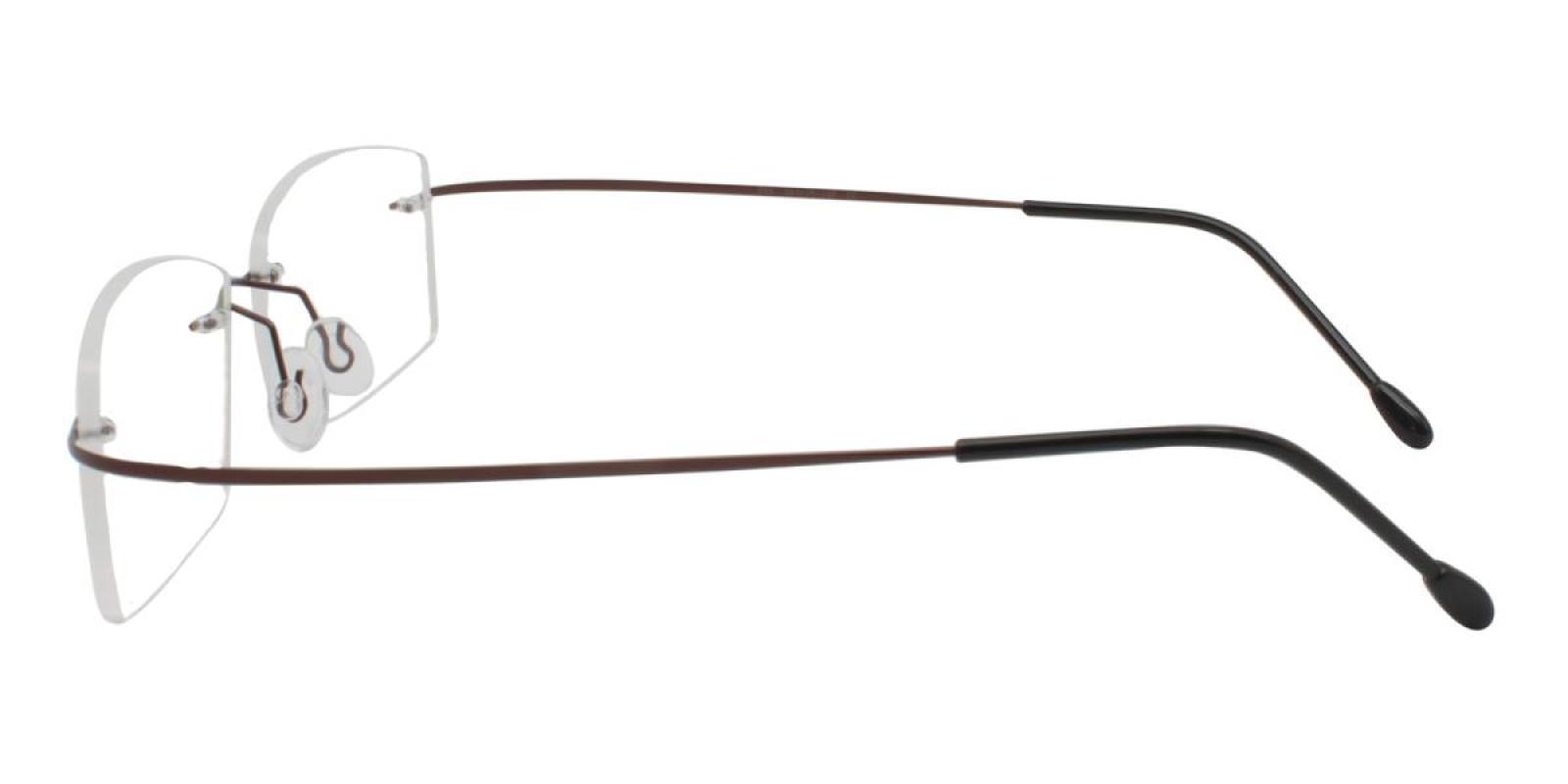 Slimly-Brown-Varieties-Memory / Metal-Eyeglasses-additional3