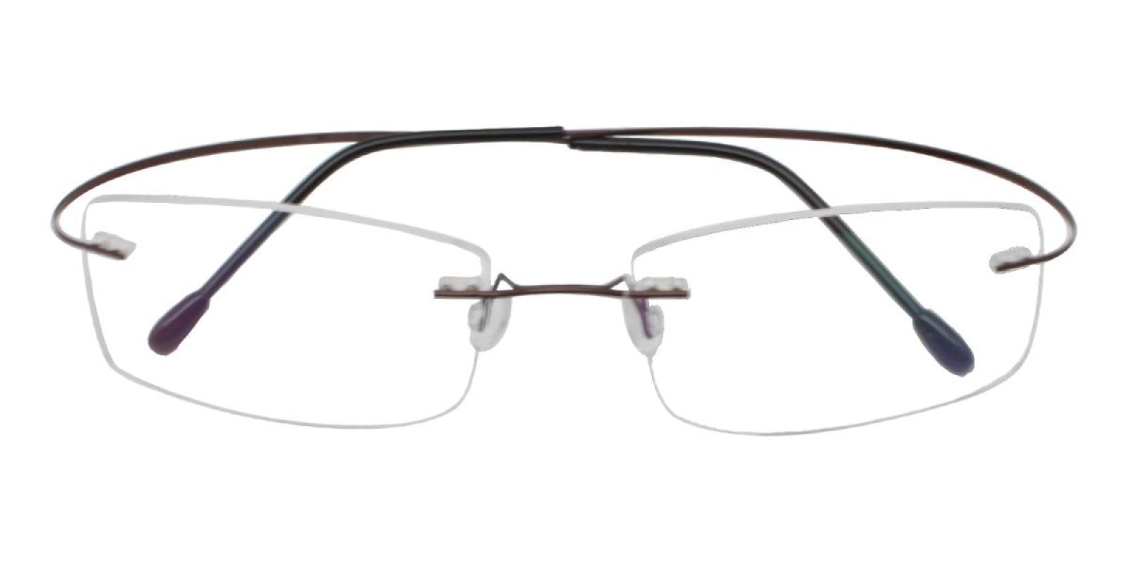 Slimly-Brown-Varieties-Memory / Metal-Eyeglasses-detail
