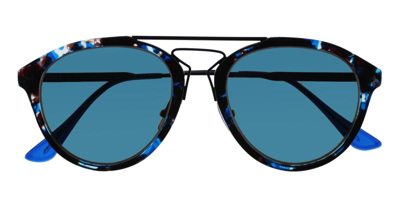 Mali-Blue-Aviator-Metal / Combination / TR-Sunglasses-detail