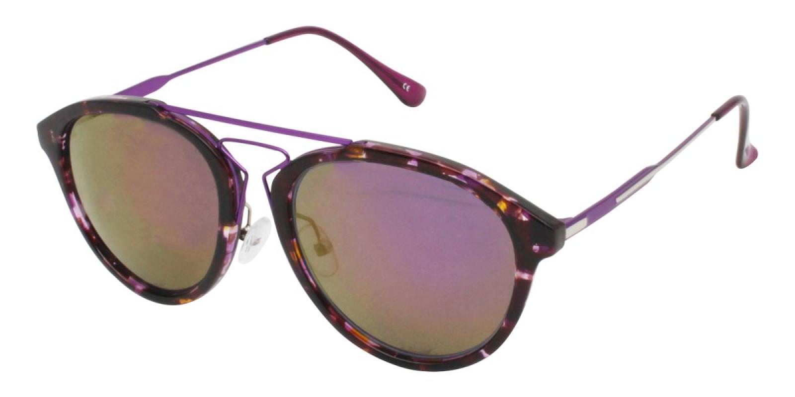 Mali-Purple-Aviator-Metal / Combination / TR-Sunglasses-additional1