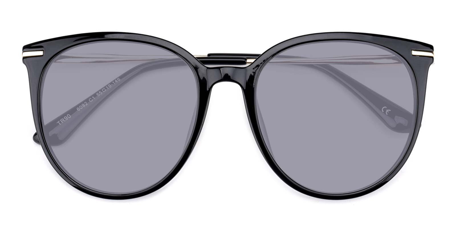 Memoria-Black-Round / Cat-Metal / Combination / TR-Sunglasses-detail