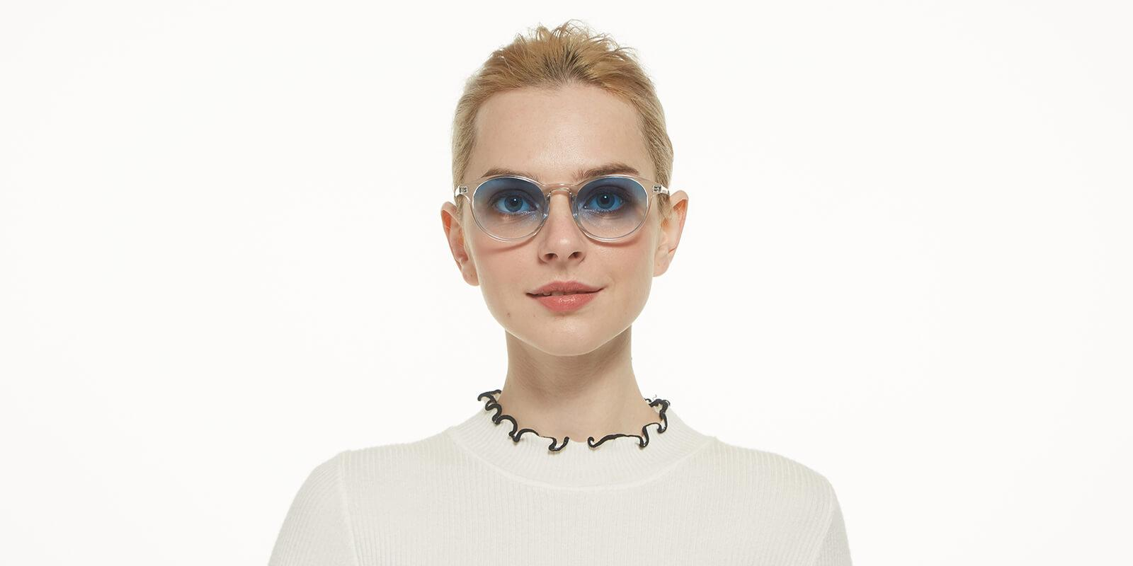 Memoria-Translucent-Round / Cat-Combination / Metal / TR-Sunglasses-additional4