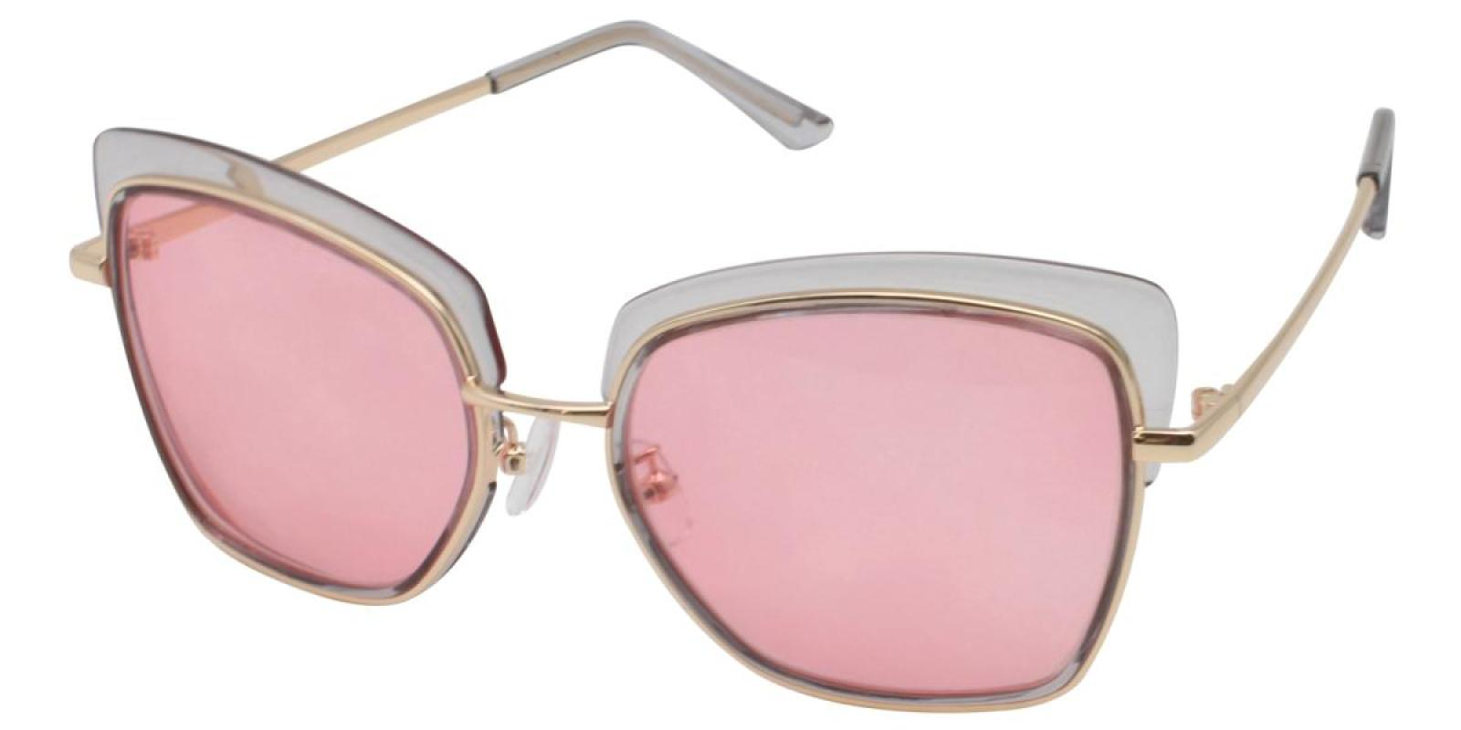 Riotousy-Translucent-Cat-Metal / Combination / TR-Sunglasses-additional1