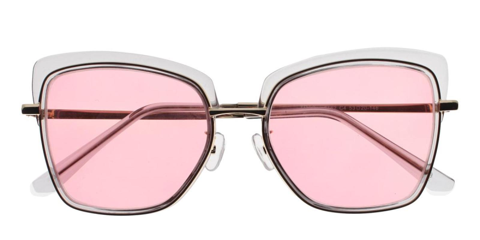 Riotousy-Translucent-Cat-Metal / Combination / TR-Sunglasses-detail