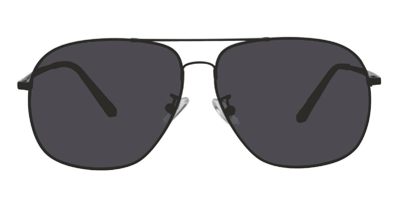 Flight-Black-Aviator-Metal-Sunglasses-detail