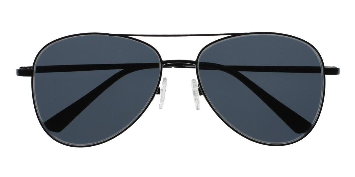Eudora-Black-Aviator-Metal-Sunglasses-detail