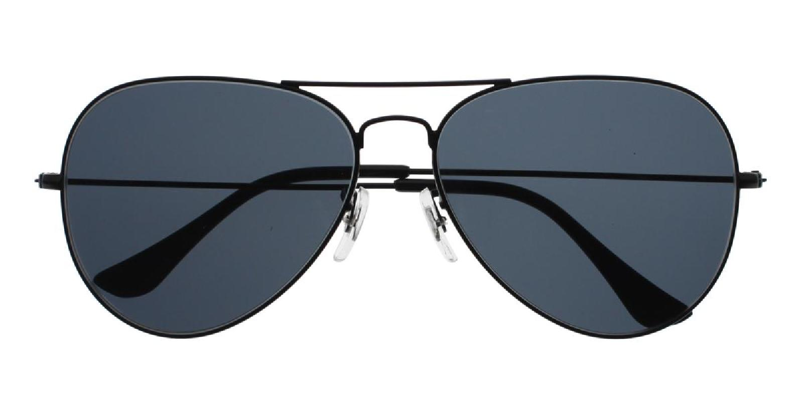 Aoline-Black-Aviator-Metal-Sunglasses-detail