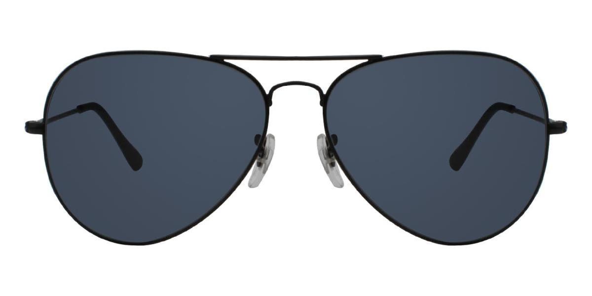 Aoline-Black-Aviator-Metal-Sunglasses-detail