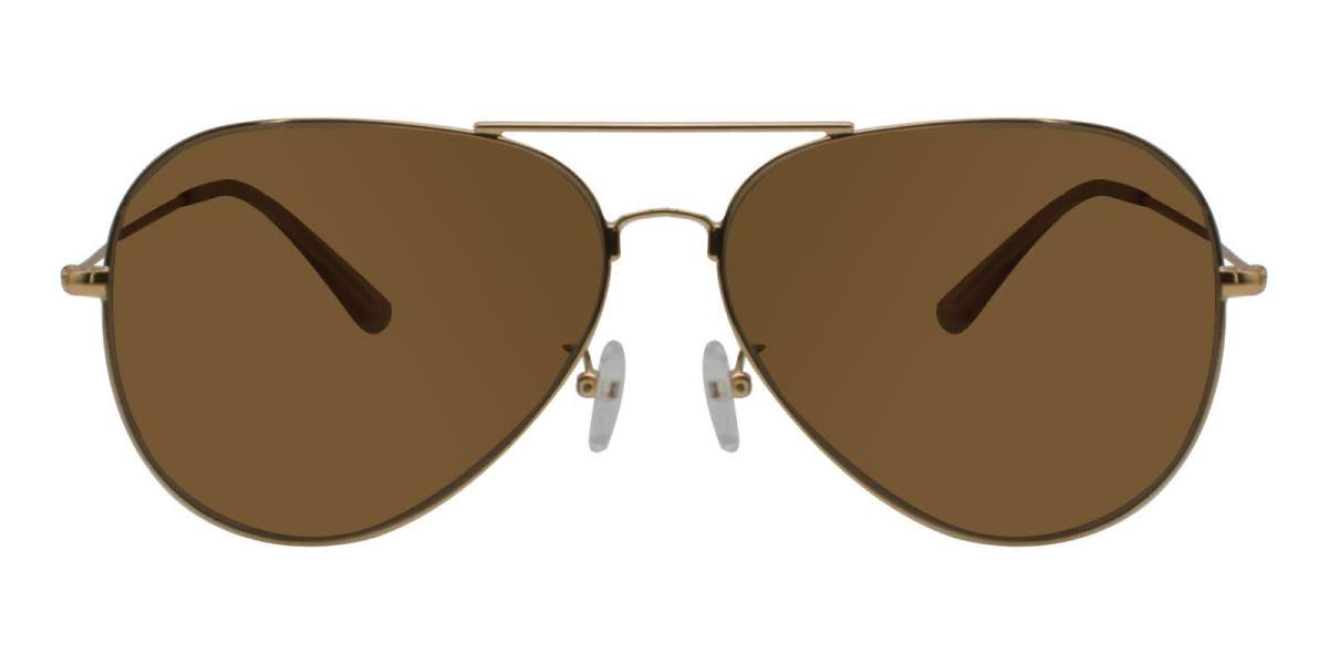 Aoline-Gold-Aviator-Metal-Sunglasses-detail