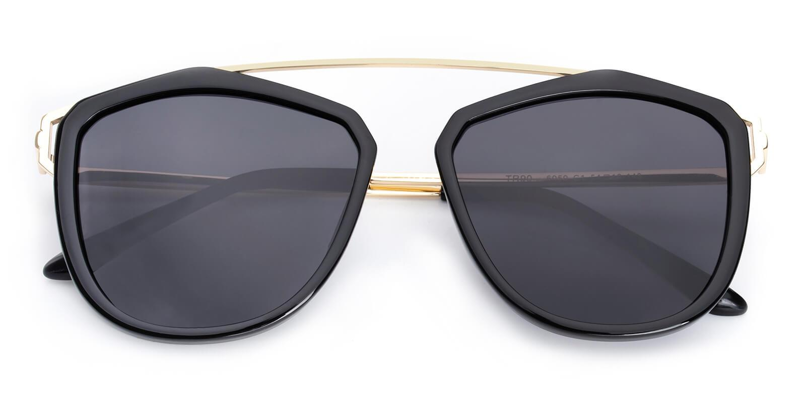 Phantom-Black-Aviator-Metal / Combination / TR-Sunglasses-detail