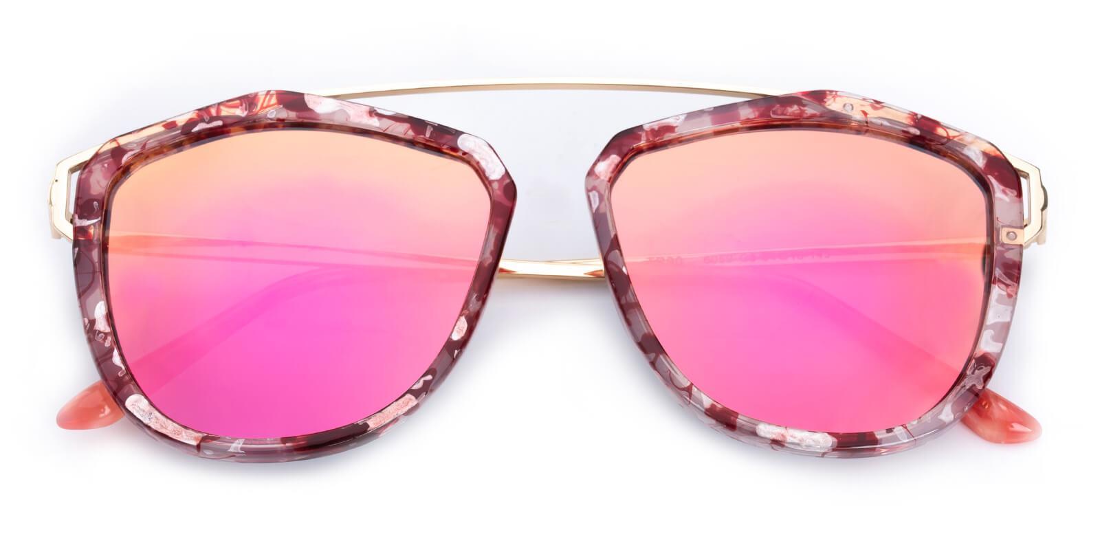 Phantom-Pink-Aviator-Metal / Combination / TR-Sunglasses-detail