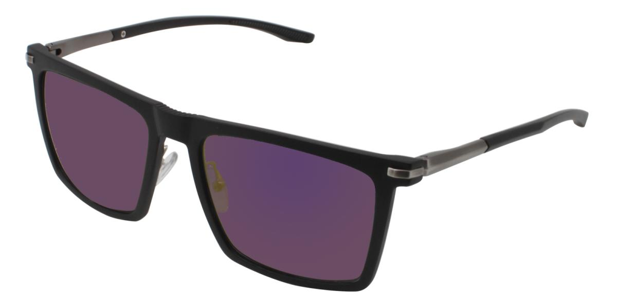 Bogota-Black-Square-Metal / Combination / TR-Sunglasses-additional1