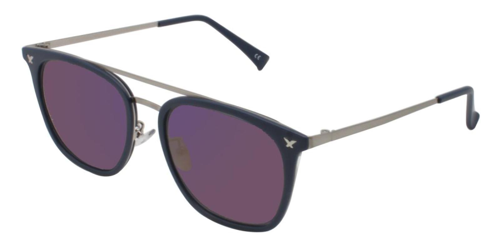 Seagual-Blue-Aviator-Metal / Combination / TR-Sunglasses-additional1