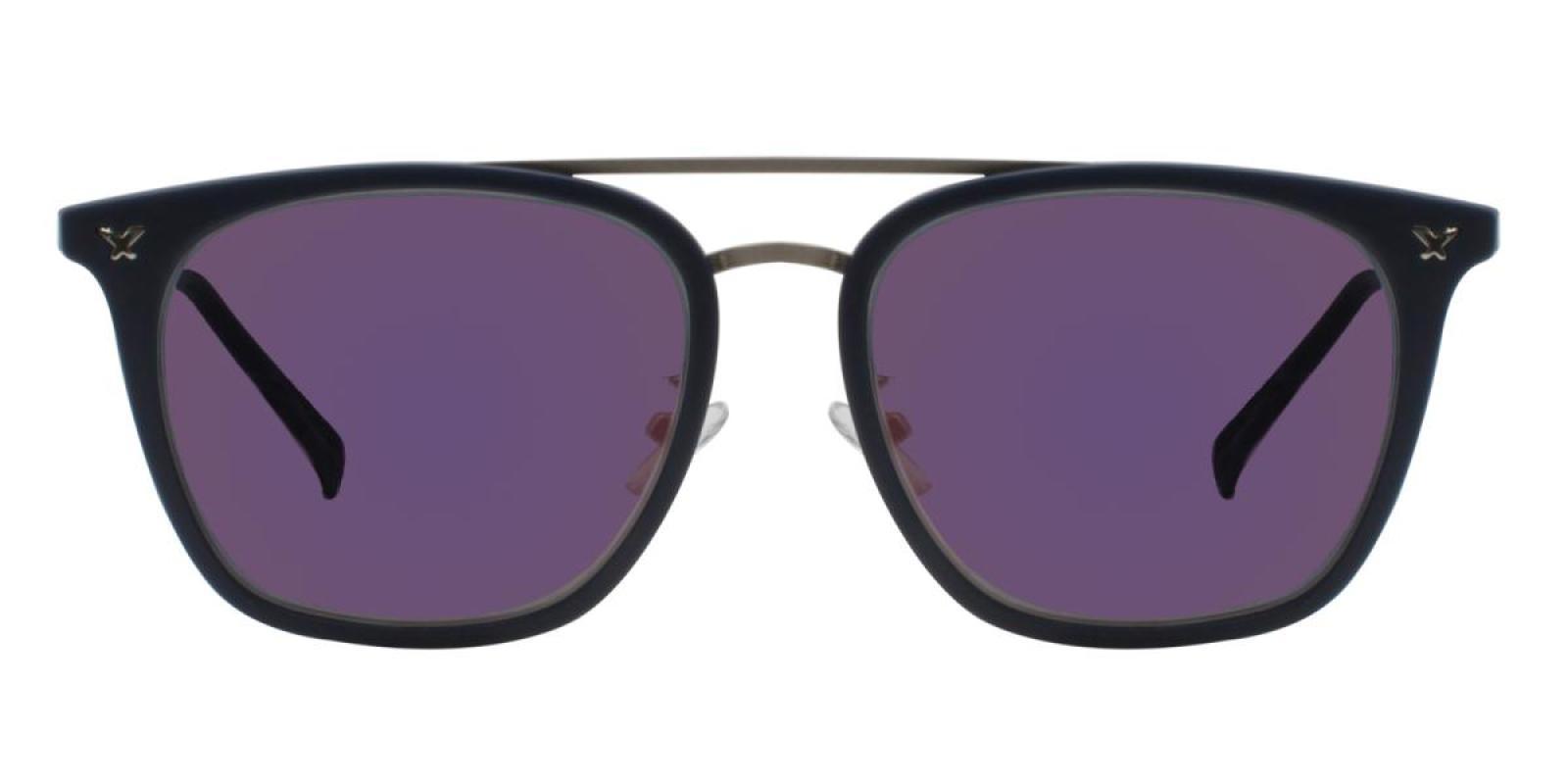 Seagual-Blue-Aviator-Metal / Combination / TR-Sunglasses-additional2