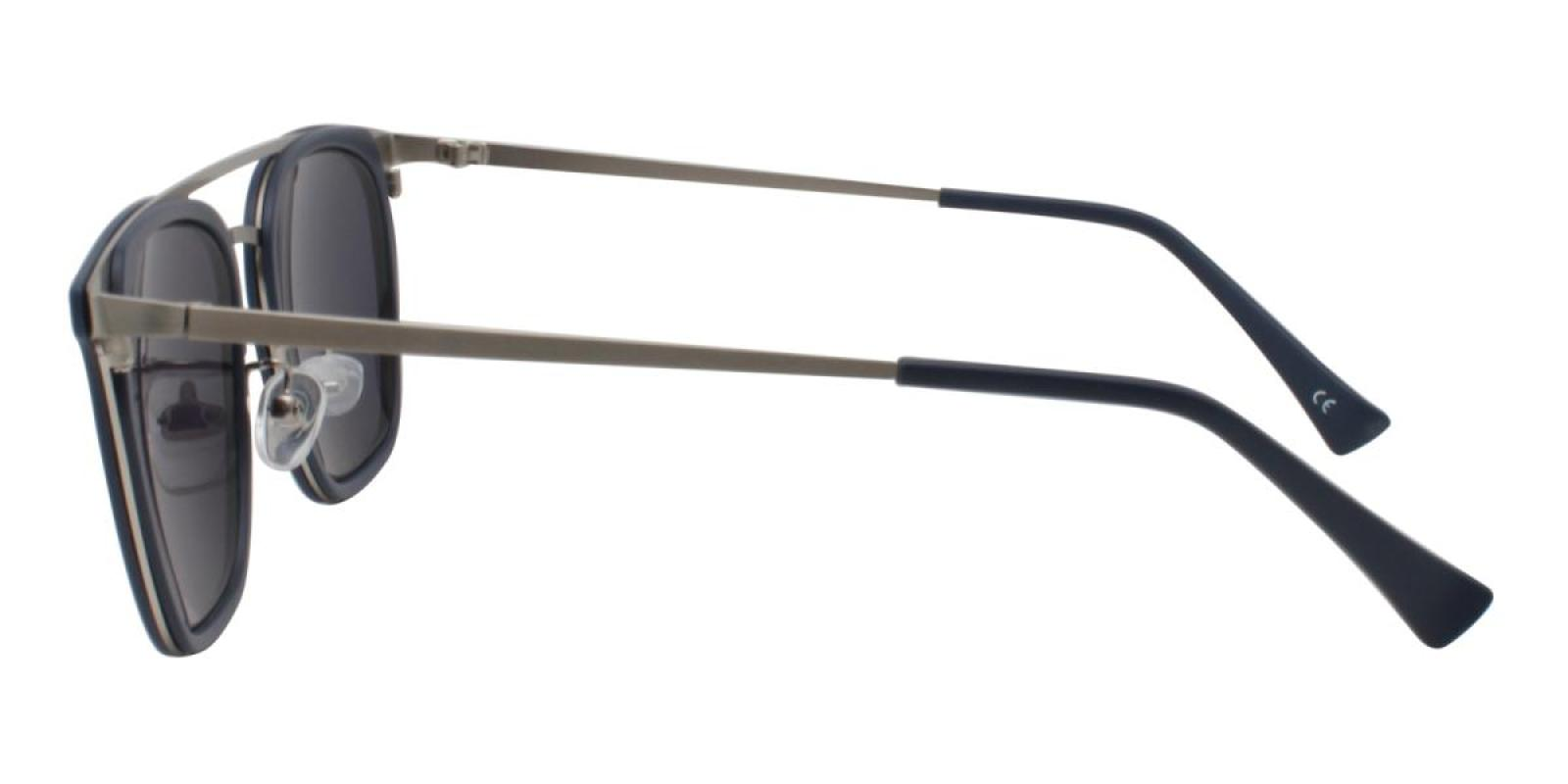 Seagual-Blue-Aviator-Metal / Combination / TR-Sunglasses-additional3