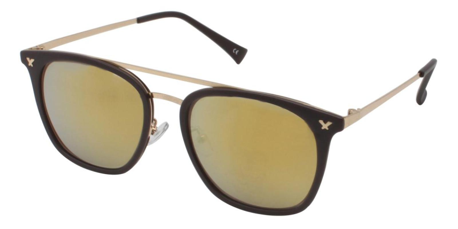 Seagual-Brown-Aviator-Metal / Combination / TR-Sunglasses-additional1