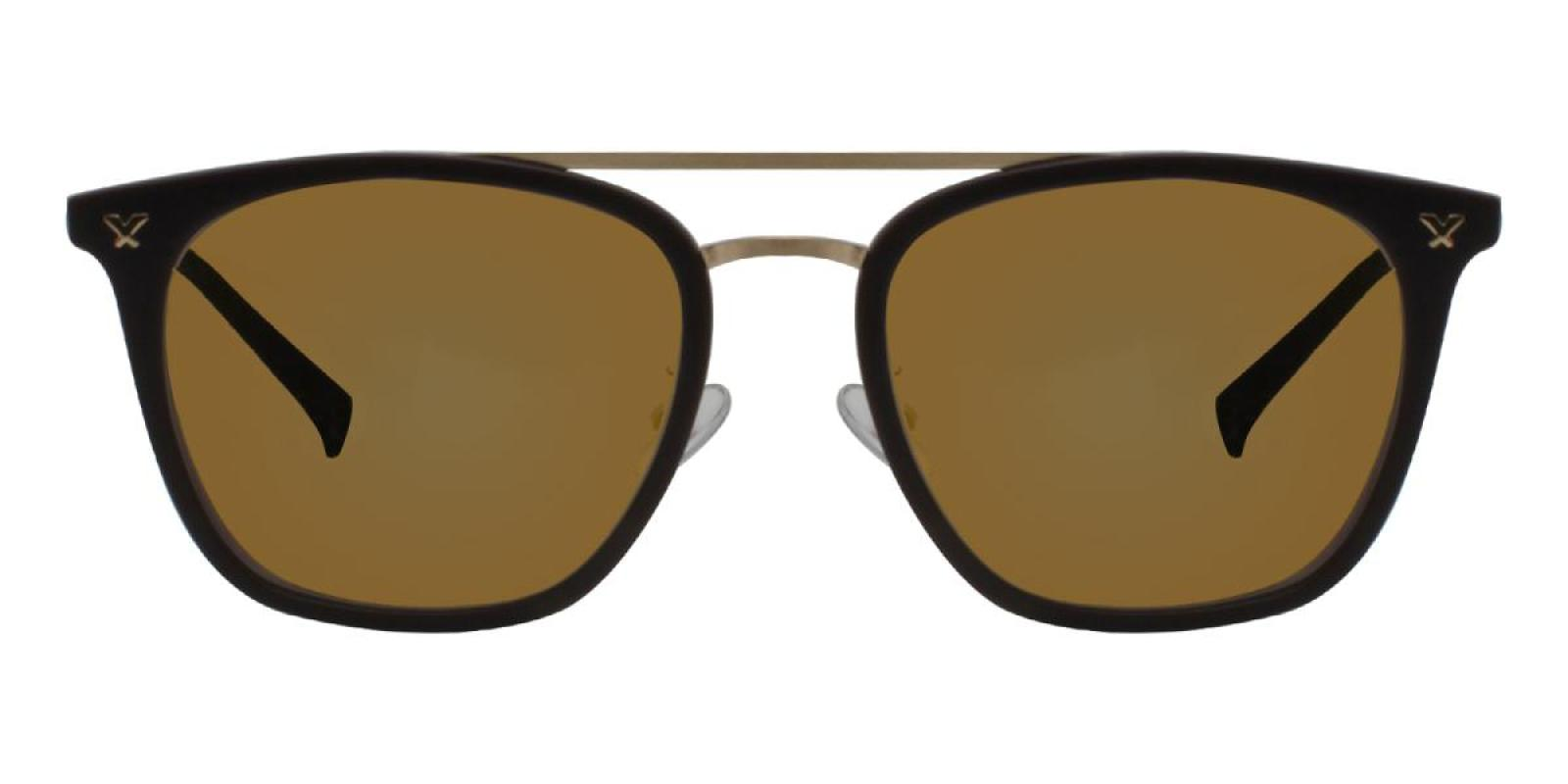 Seagual-Brown-Aviator-Combination / Metal / TR-Sunglasses-additional2