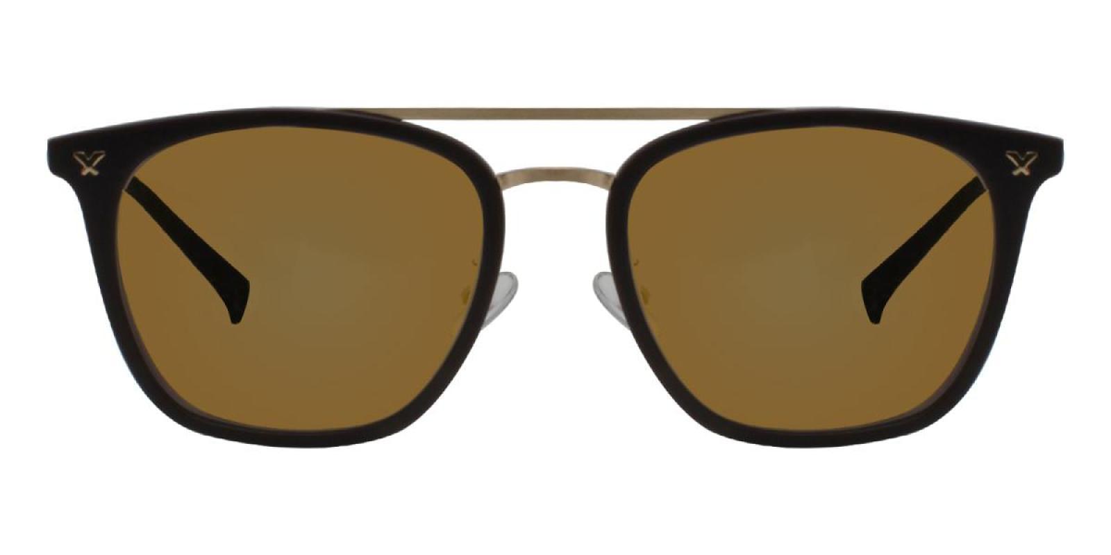 Seagual-Brown-Aviator-Metal / Combination / TR-Sunglasses-additional2