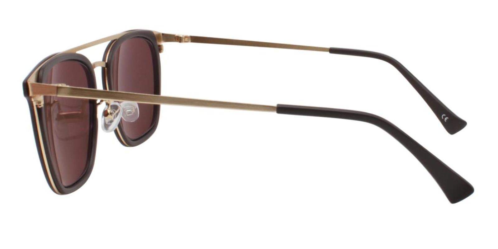 Seagual-Brown-Aviator-Metal / Combination / TR-Sunglasses-additional3