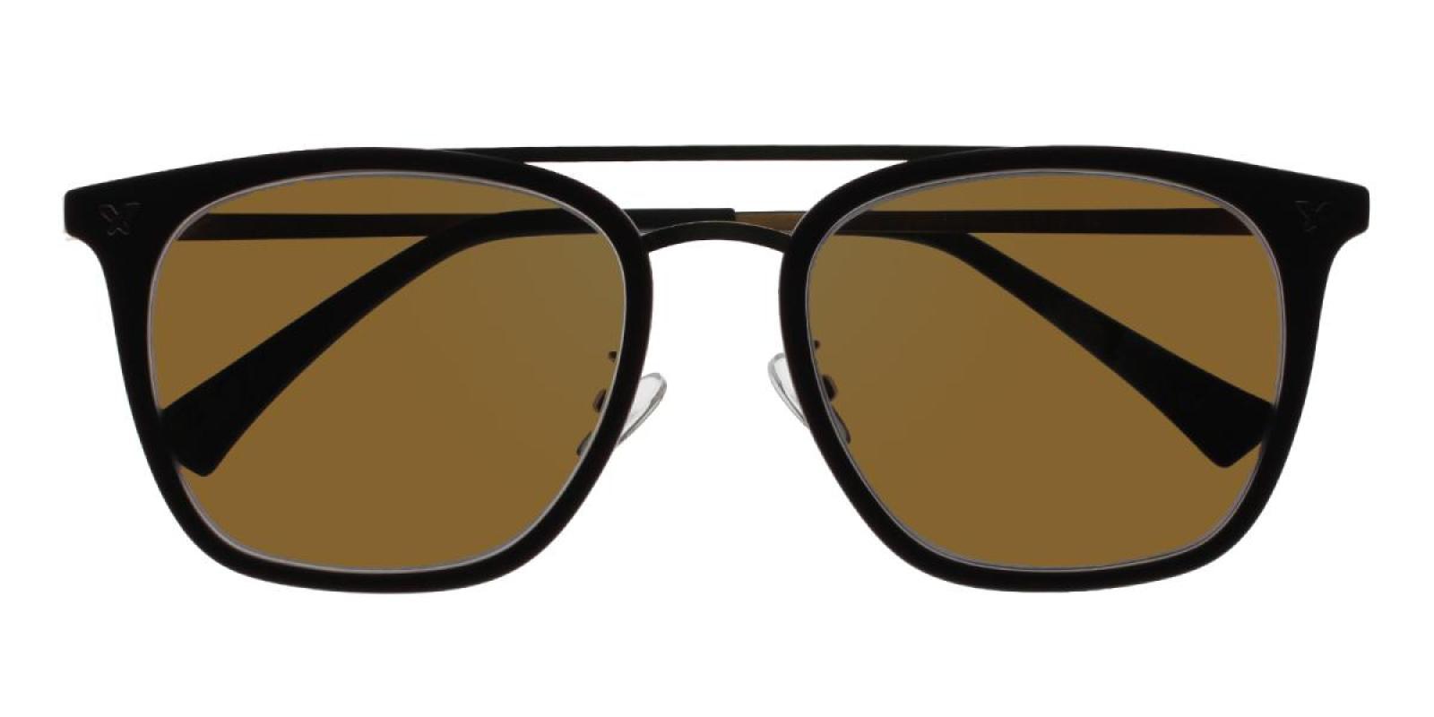 Seagual-Brown-Aviator-Metal / Combination / TR-Sunglasses-detail