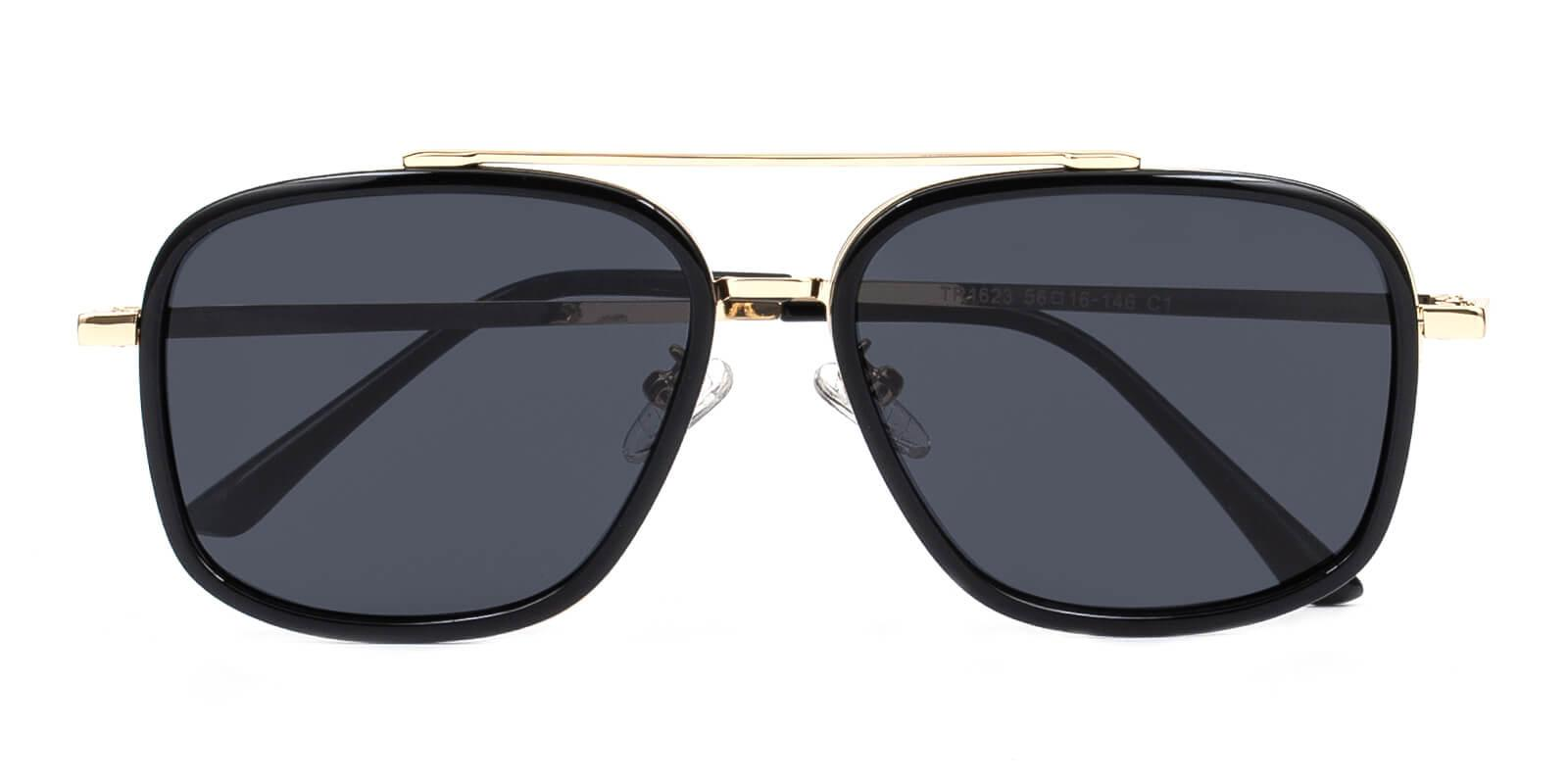 Clinton-Black-Aviator-Metal / Combination / TR-Sunglasses-detail