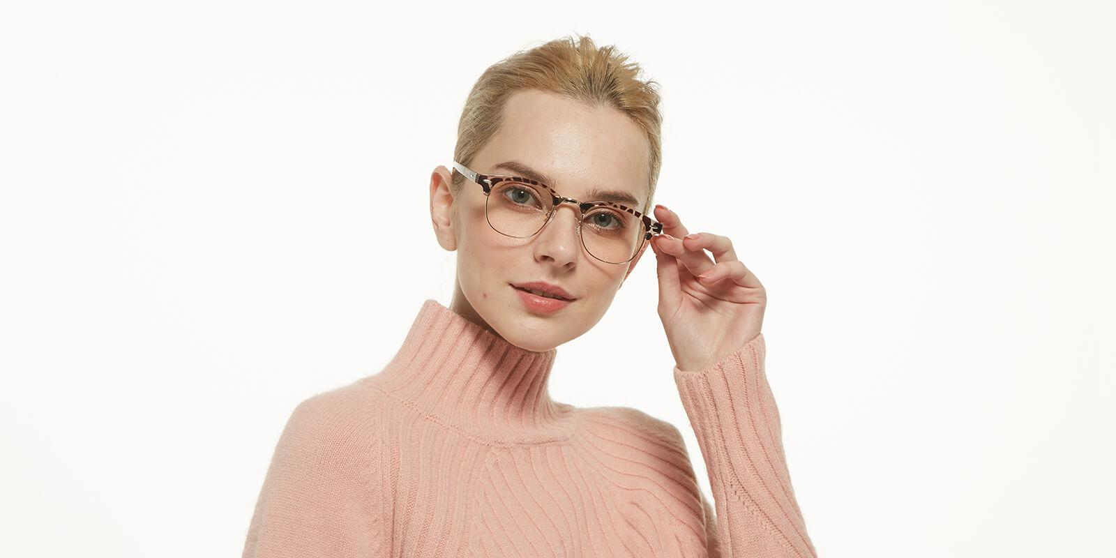 Creative-Leopard-Metal / Combination / Plastic-Eyeglasses-detail2