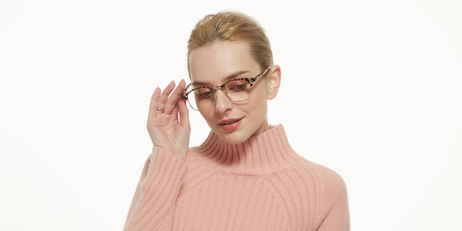 Creative-Leopard-Metal / Combination / Plastic-Eyeglasses-detail3