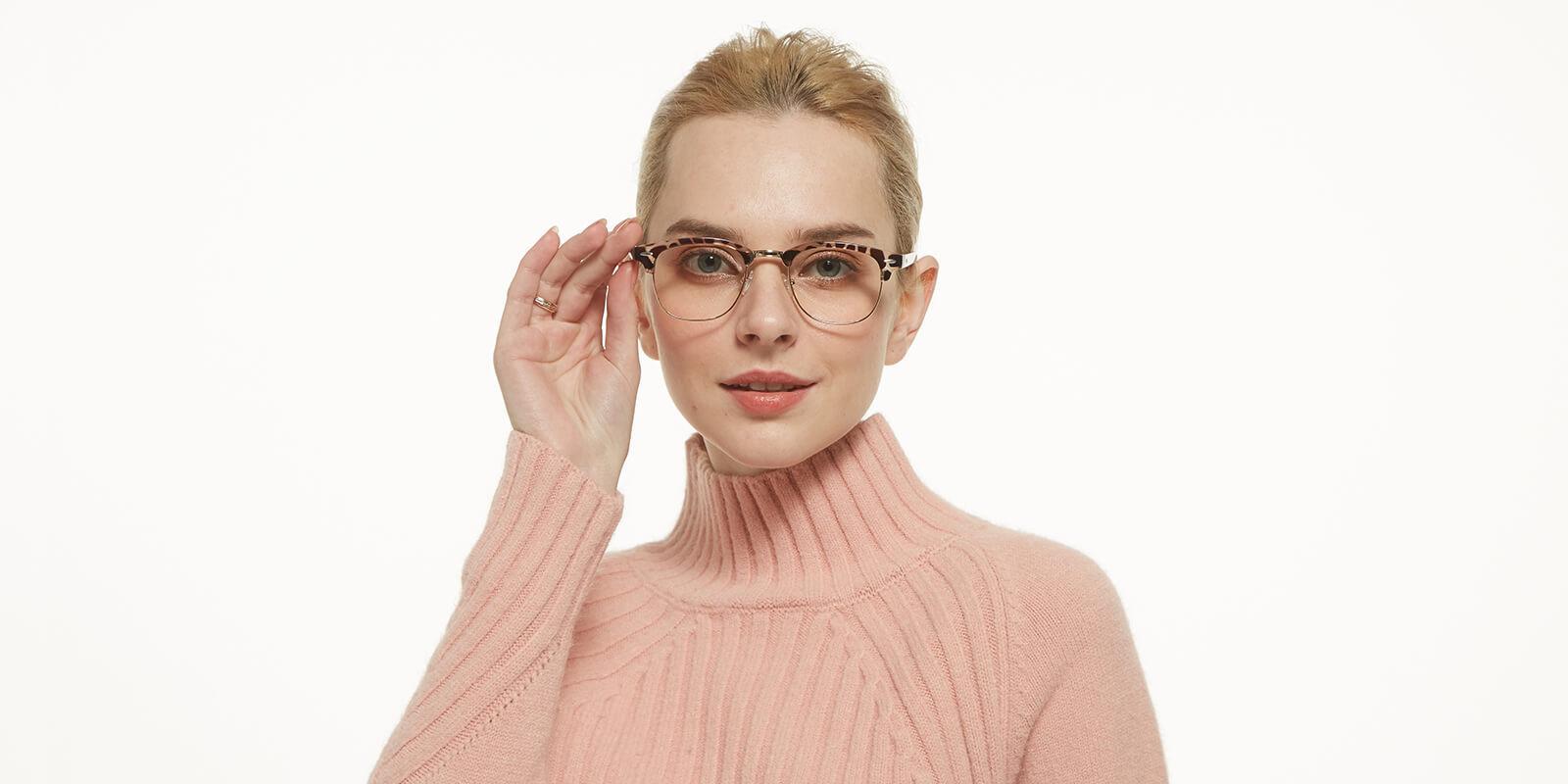 Creative-Leopard-Metal / Combination / Plastic-Eyeglasses-detail4