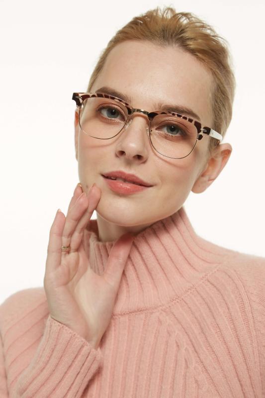 Creative-Leopard-Metal / Combination / Plastic-Eyeglasses-detail