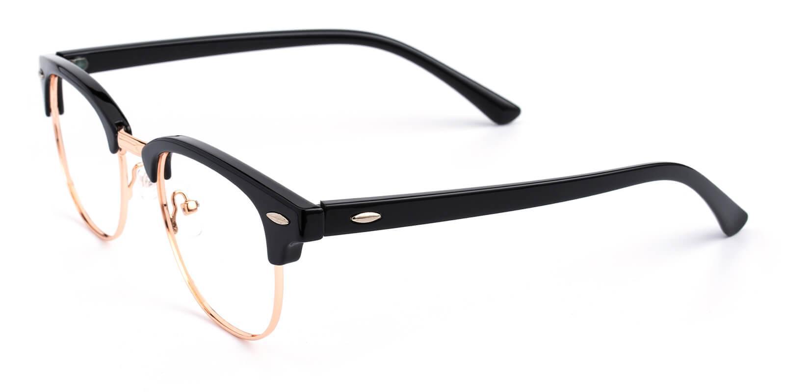Creative-Black-Browline-Metal / Combination / Plastic-Eyeglasses-additional1