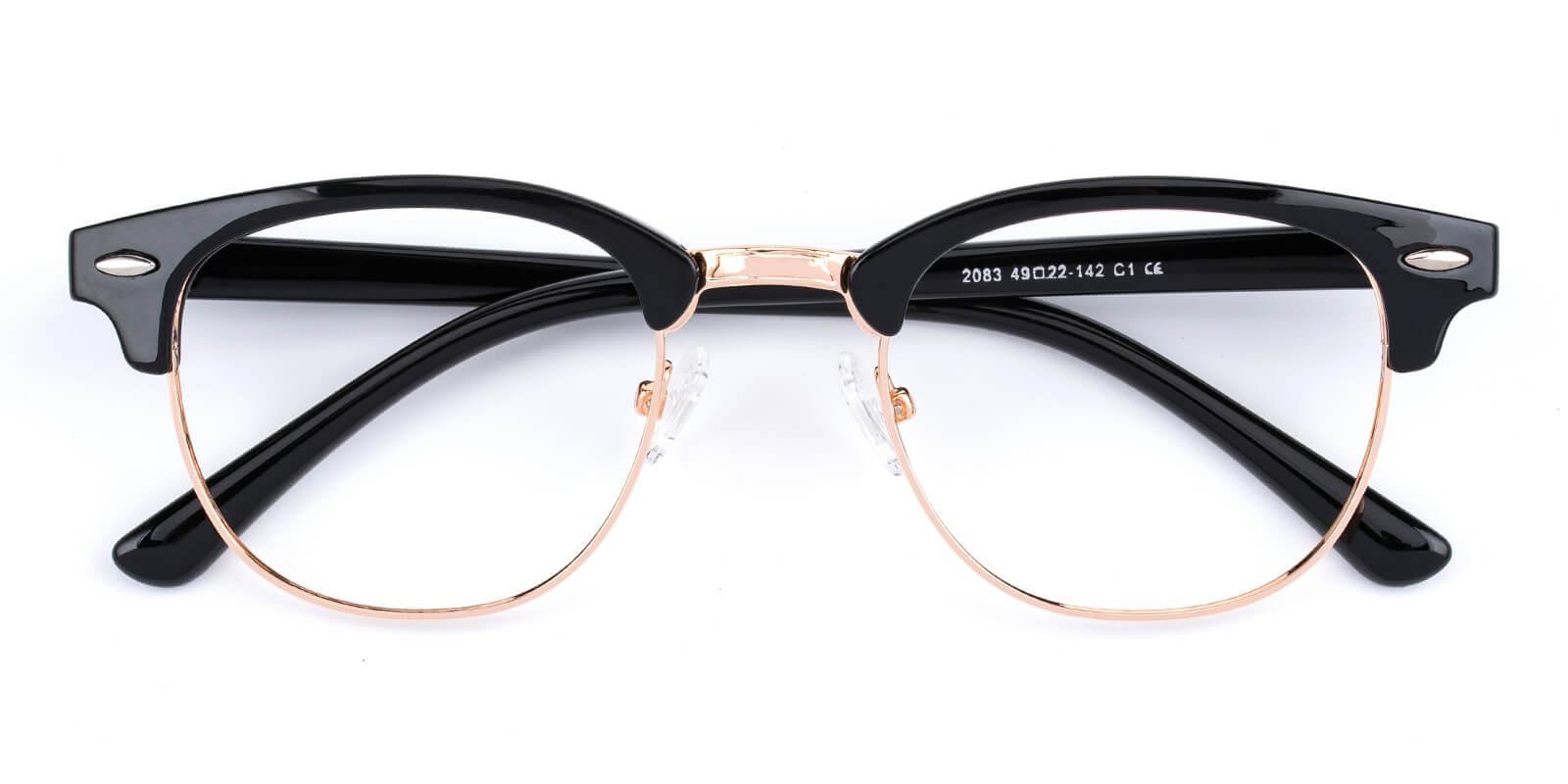 Creative-Black-Browline-Metal / Combination / Plastic-Eyeglasses-detail