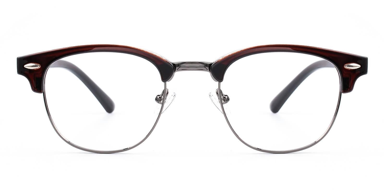 Creative-Brown-Browline-Metal / Combination / Plastic-Eyeglasses-detail