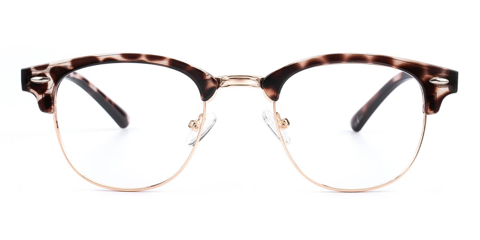 Creative-Leopard-Browline-Metal / Combination / Plastic-Eyeglasses-detail