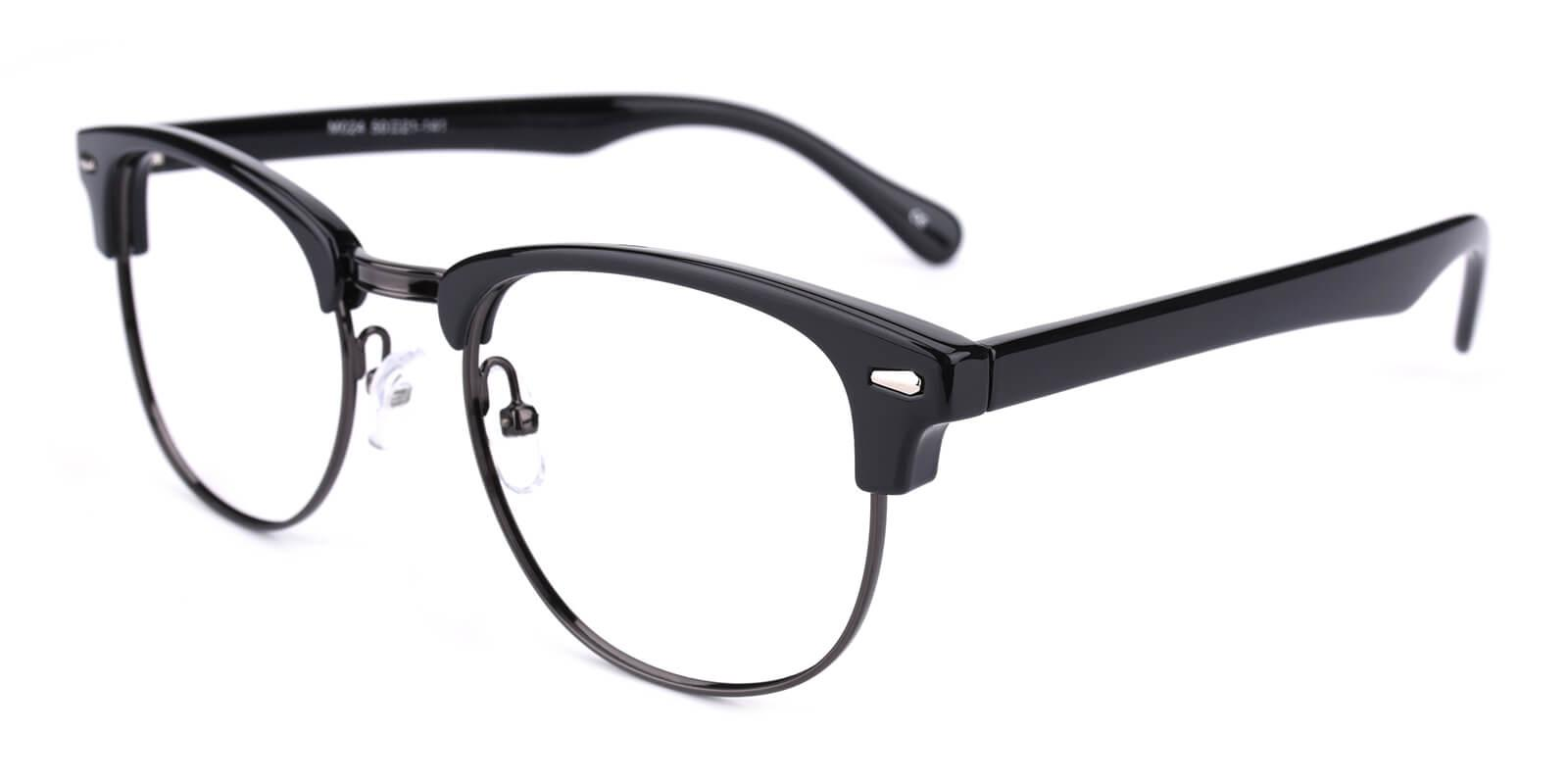 Ferrous-Black-Browline-Combination / Metal / Plastic-Eyeglasses-additional1