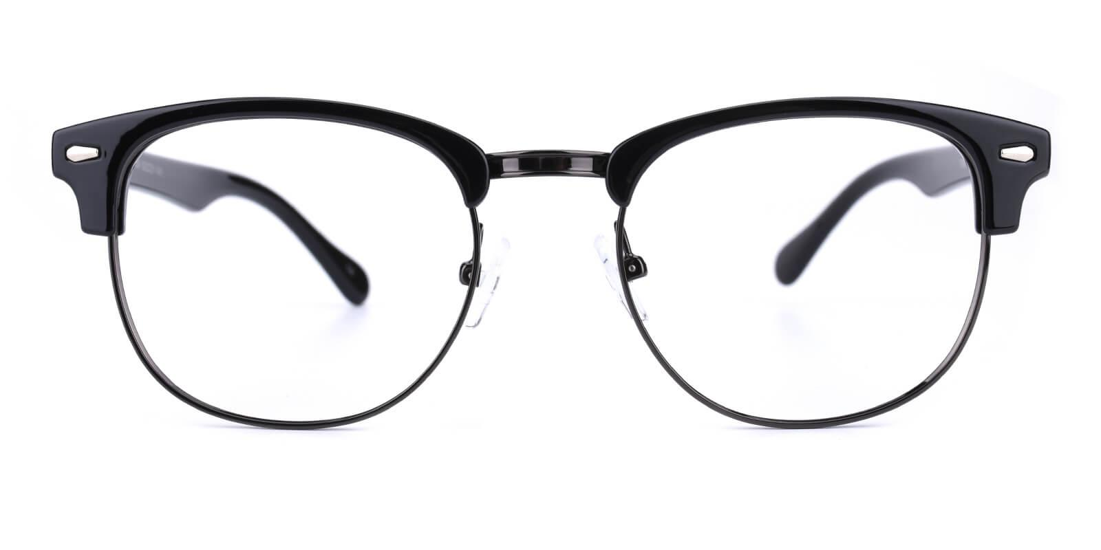 Ferrous-Black-Browline-Combination / Metal / Plastic-Eyeglasses-additional2