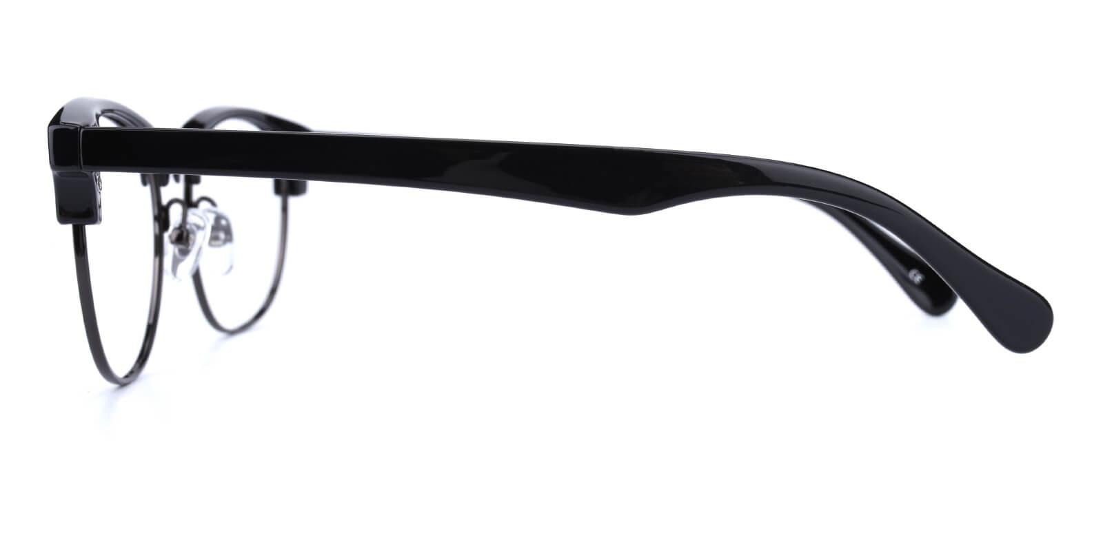Ferrous-Black-Browline-Combination / Metal / Plastic-Eyeglasses-additional3