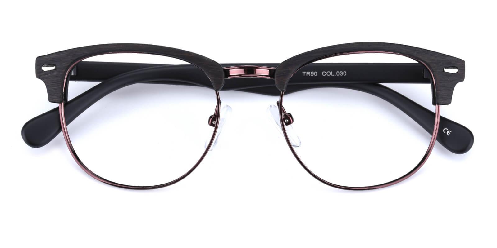 Ferrous-Gun-Browline-Metal / Combination / Plastic-Eyeglasses-detail