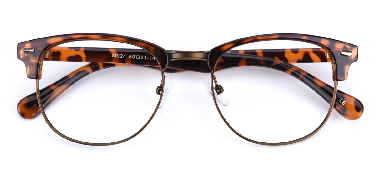 Ferrous-Leopard-Browline-Metal / Combination / Plastic-Eyeglasses-detail