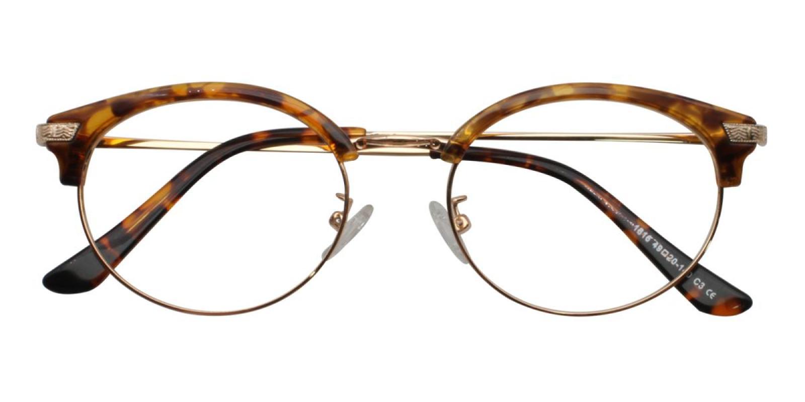 Atlandis-Leopard-Browline-Metal / Combination / TR-Eyeglasses-detail