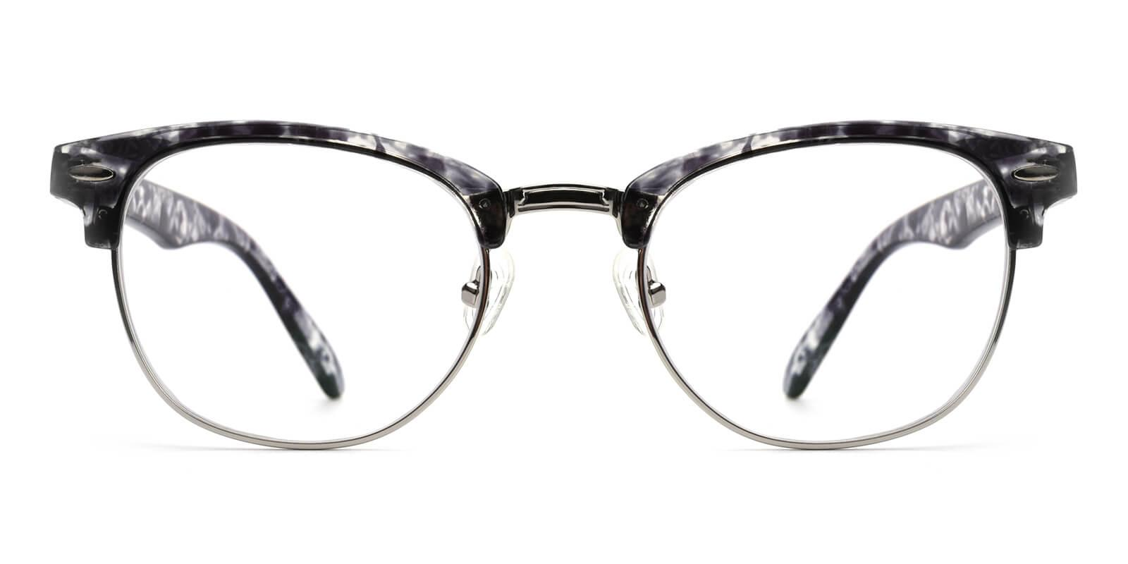 Ancient-Striped-Browline-Metal-Eyeglasses-additional2