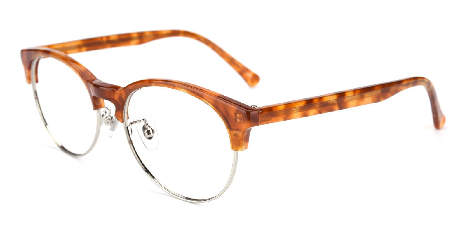Esteban-Brown-Browline-Metal / Combination / TR-Eyeglasses-detail