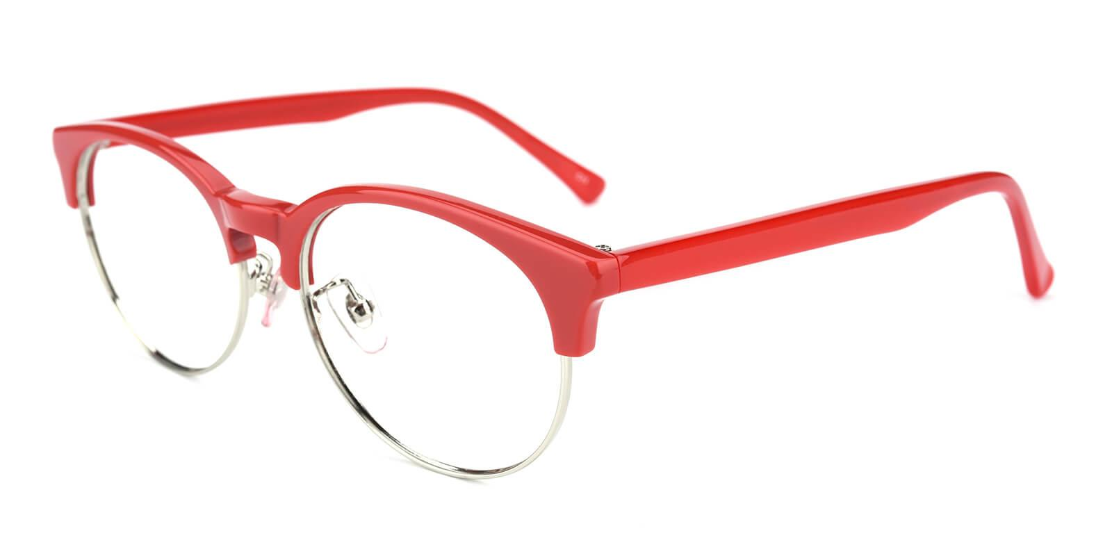 Esteban-Red-Browline-Metal / Combination / TR-Eyeglasses-additional1