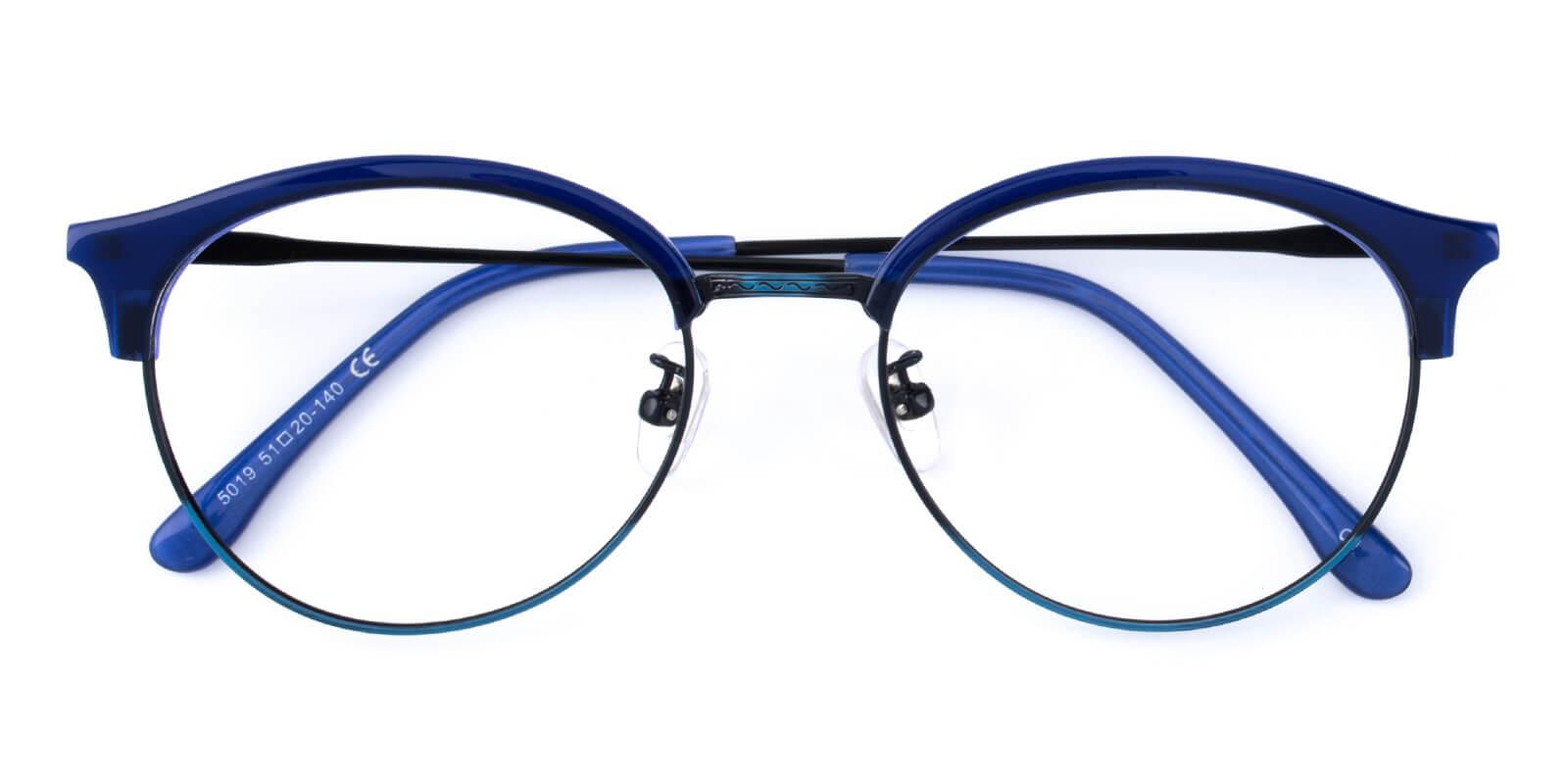 Avenue-Blue-Browline-Metal / Combination / TR-Eyeglasses-detail