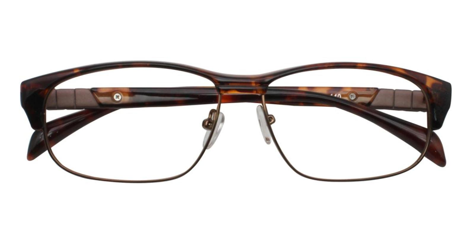 Colin-Leopard-Rectangle-Combination / Metal / TR-Eyeglasses-detail
