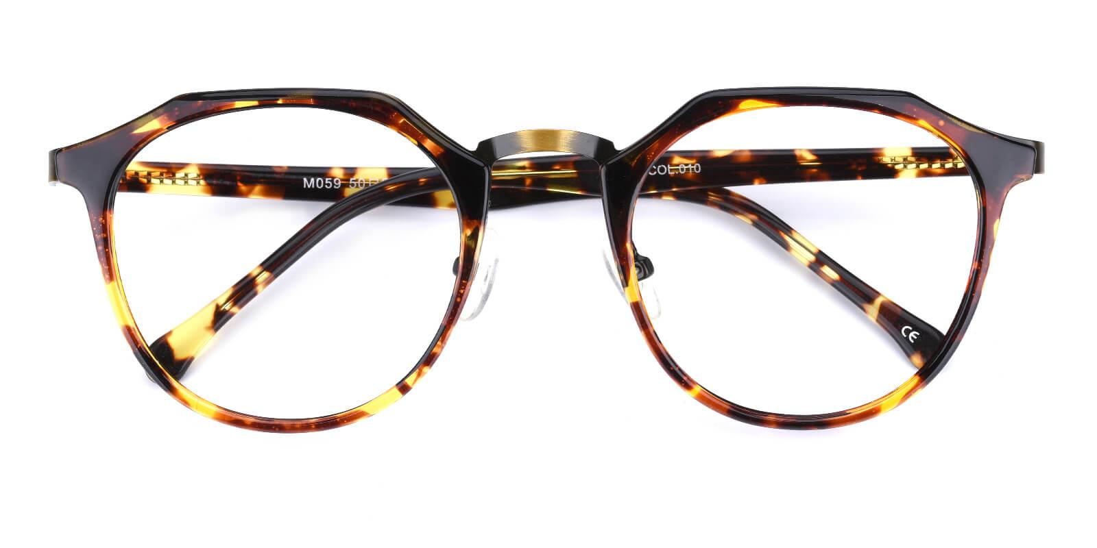 Intense-Leopard-Geometric-Combination / Metal / TR-Eyeglasses-detail