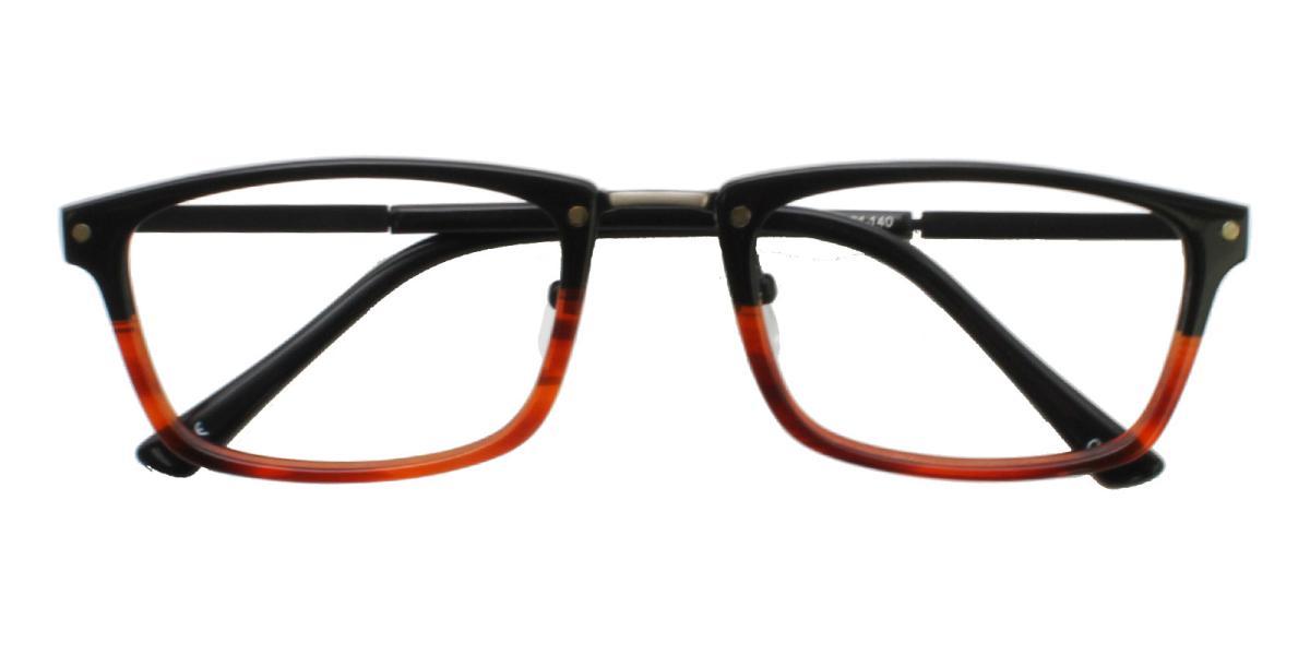 Lightweight Rectangle Glasses 180827037-Tortoise-Rectangle-TR-Eyeglasses-detail