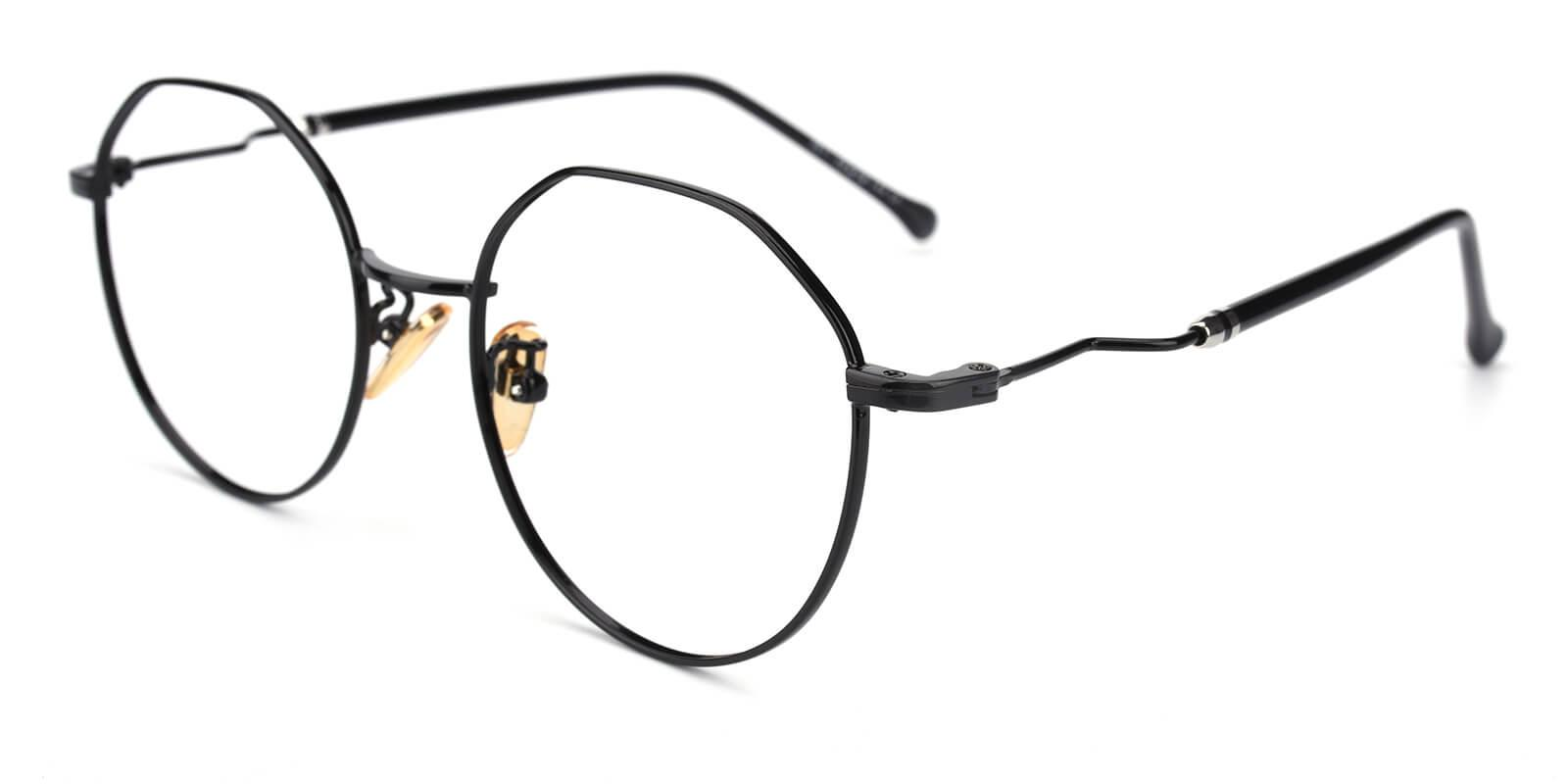 Clarker-Black-Geometric-Metal-Eyeglasses-additional1
