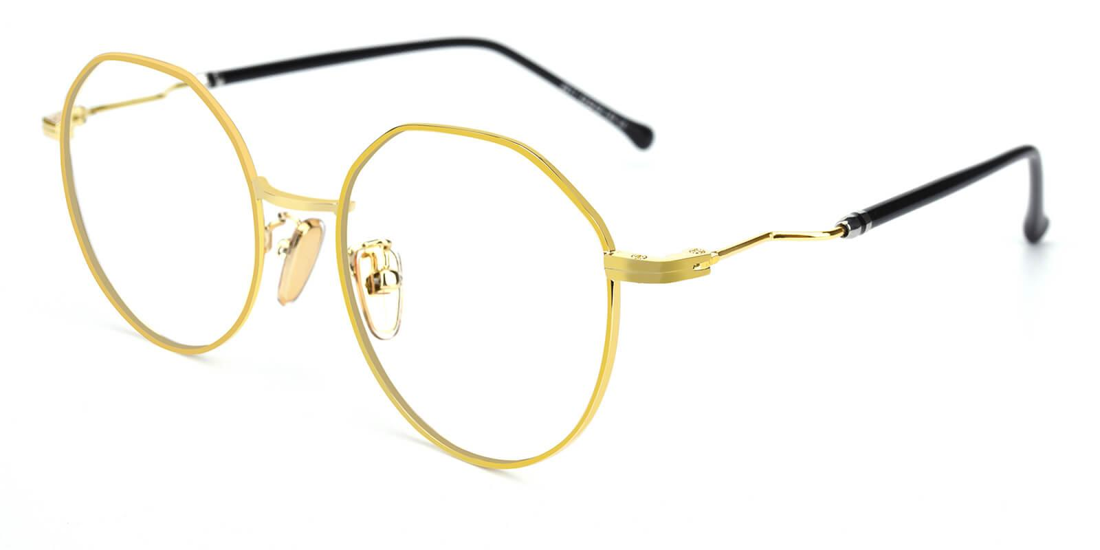 Clarker-Gold-Geometric-Metal-Eyeglasses-additional1