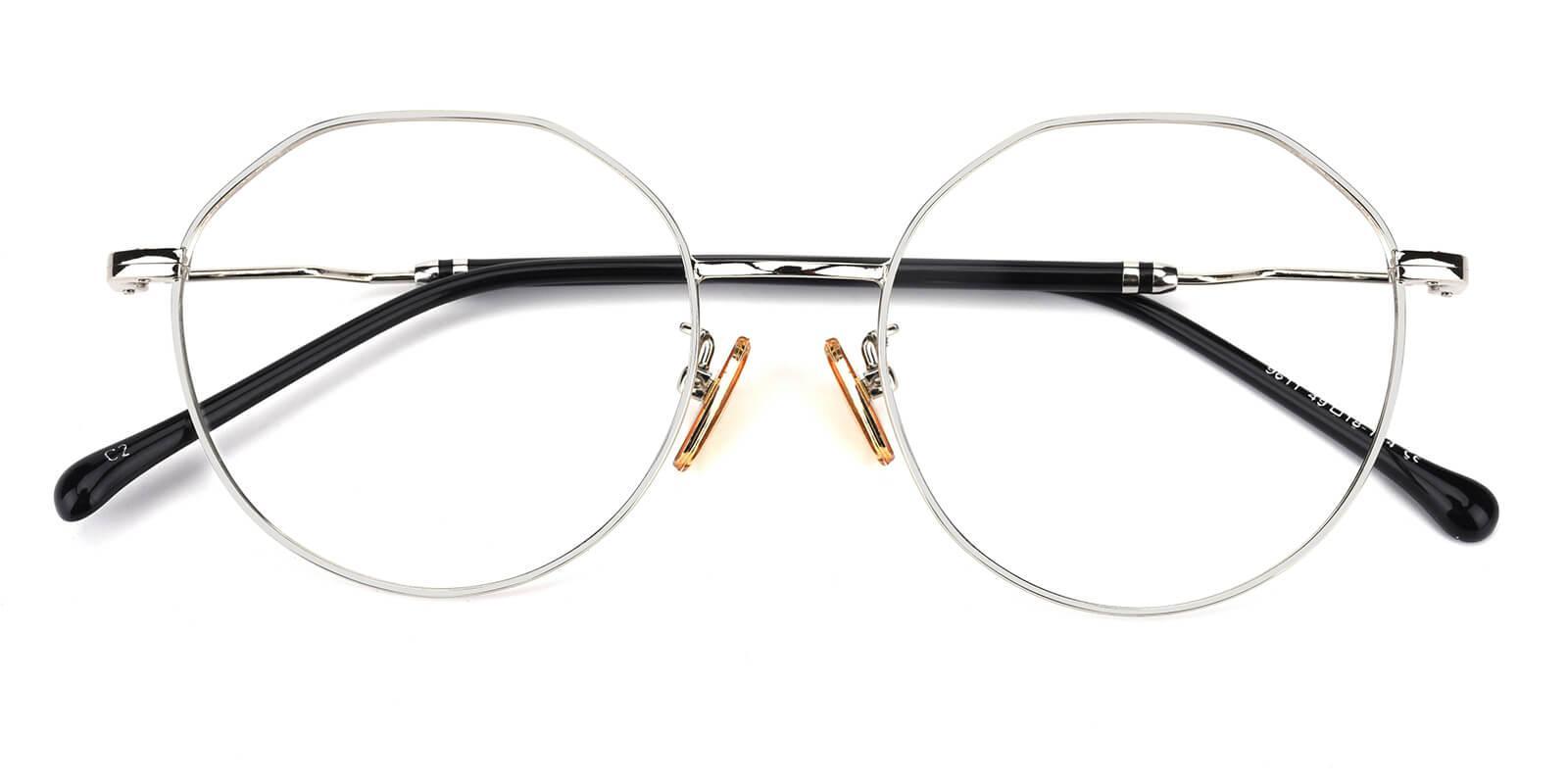 Clarker-Silver-Geometric-Metal-Eyeglasses-detail
