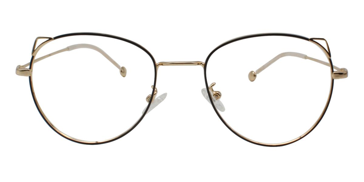 -Gold-Cat-Metal-Eyeglasses-detail